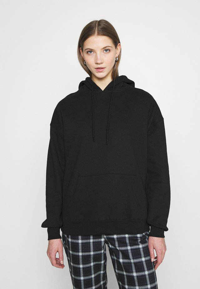 DAD MAXI PEACHED HOODIE - Huppari - black