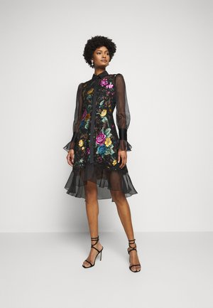 DAMASK DRESS - Cocktailjurk - black