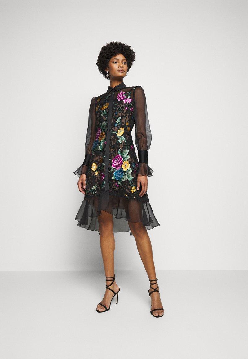 Marchesa - DAMASK DRESS - Koktejlové šaty/ šaty na párty - black
