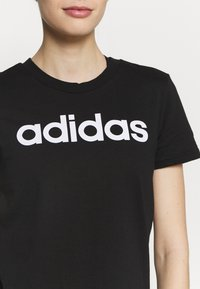 adidas Performance - T-shirts med print - black/white - 4