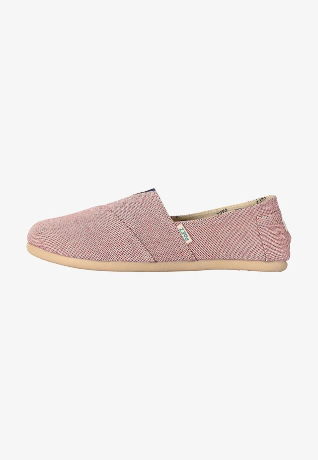 CLASSIC PANAMA NAVY/RED - Espadrilles - red