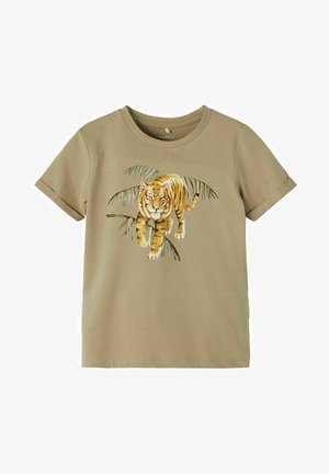 Print T-shirt - silver sage