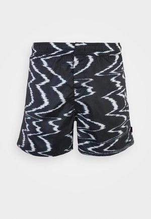 SWIM - Swimming shorts - poli stampato bicolor/nero/bianco