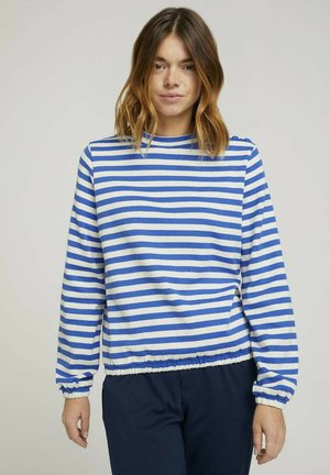 Sweatshirt - horizontal blue white stripe