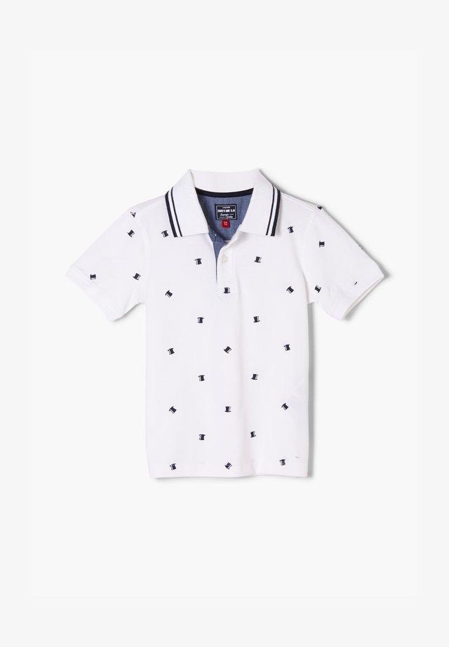 Poloshirt - white aop