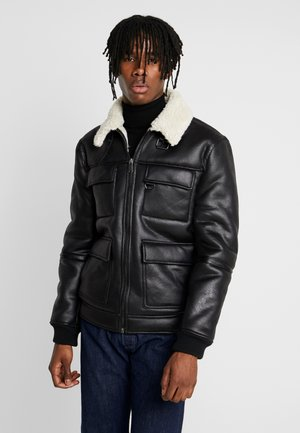 SHEARLING JACKET - Light jacket - black