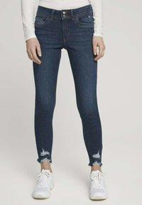 TOM TAILOR DENIM - Jeans Skinny Fit - used dark stone blue denim - 0