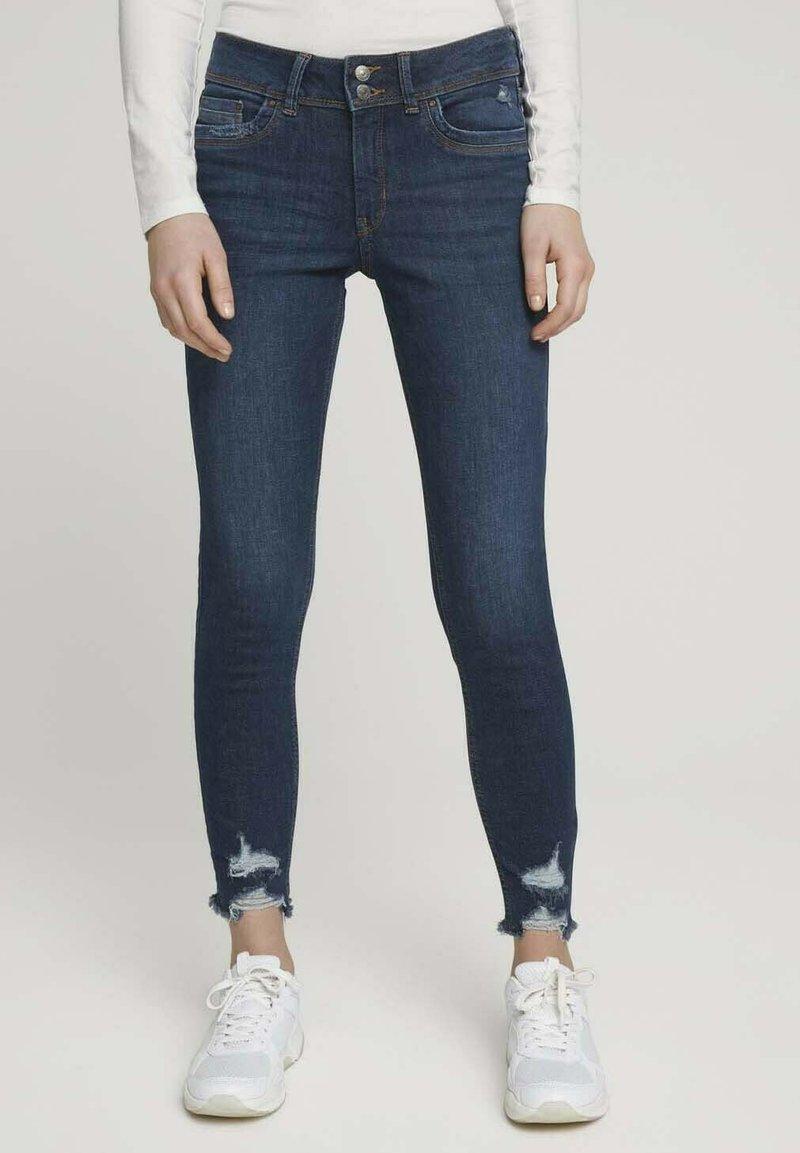 TOM TAILOR DENIM - Jeans Skinny Fit - used dark stone blue denim