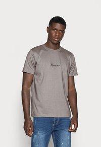 Mennace - 2 PACK UNISEX - Print T-shirt - black/grey - 1