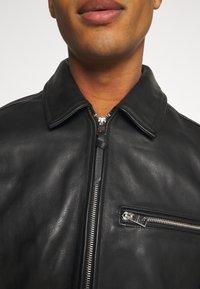 AllSaints - CLAY JACKET - Leather jacket - black - 6