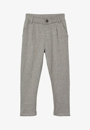 GEMUSTERTE - Suit trousers - grey melange