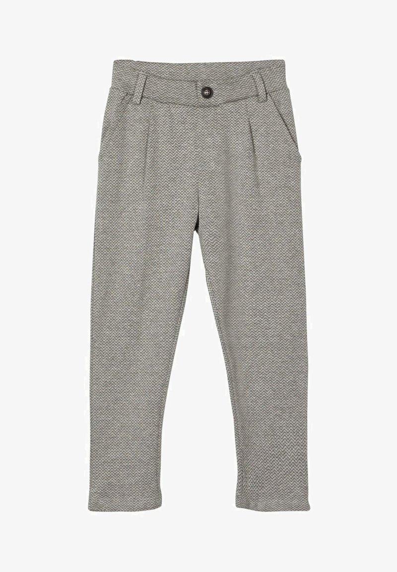 Name it - GEMUSTERTE - Pantaloni eleganti - grey melange