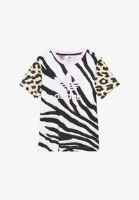 adidas Originals - TEE - T-shirt med print - pink/black - 2