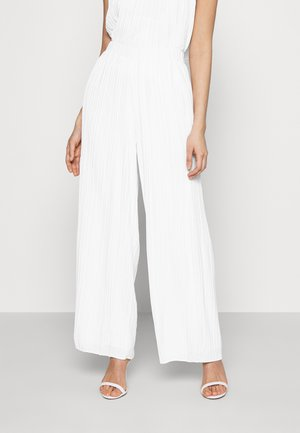YASKELLY WIDE PANTS - Bukse - star white