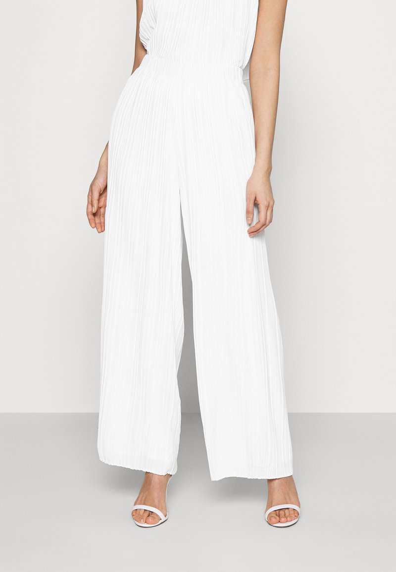 YAS - YASKELLY WIDE PANTS - Trousers - star white