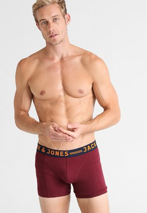 JACLICHFIELD 3 PACK  - Pants - burgundy
