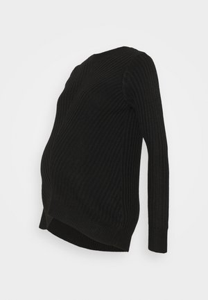 MATERNITY CREW NECK JUMPER - Strikkegenser - black