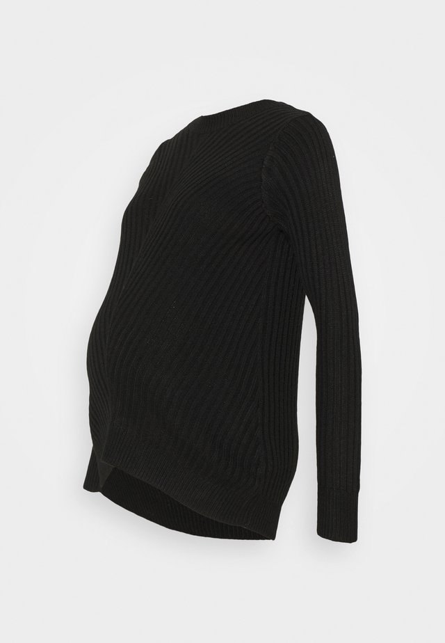 MATERNITY CREW NECK JUMPER - Strikpullover /Striktrøjer - black