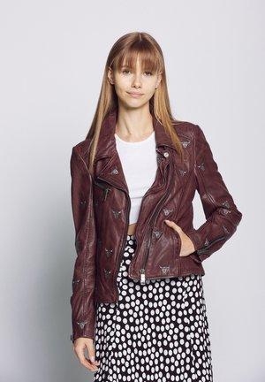 MW18-1-VEGAS - Leather jacket - mahagony
