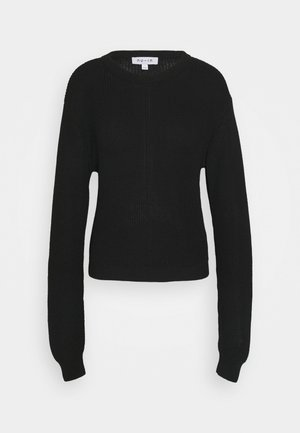 SEAM DETAIL CREW NECK JUMPER - Jumper - black