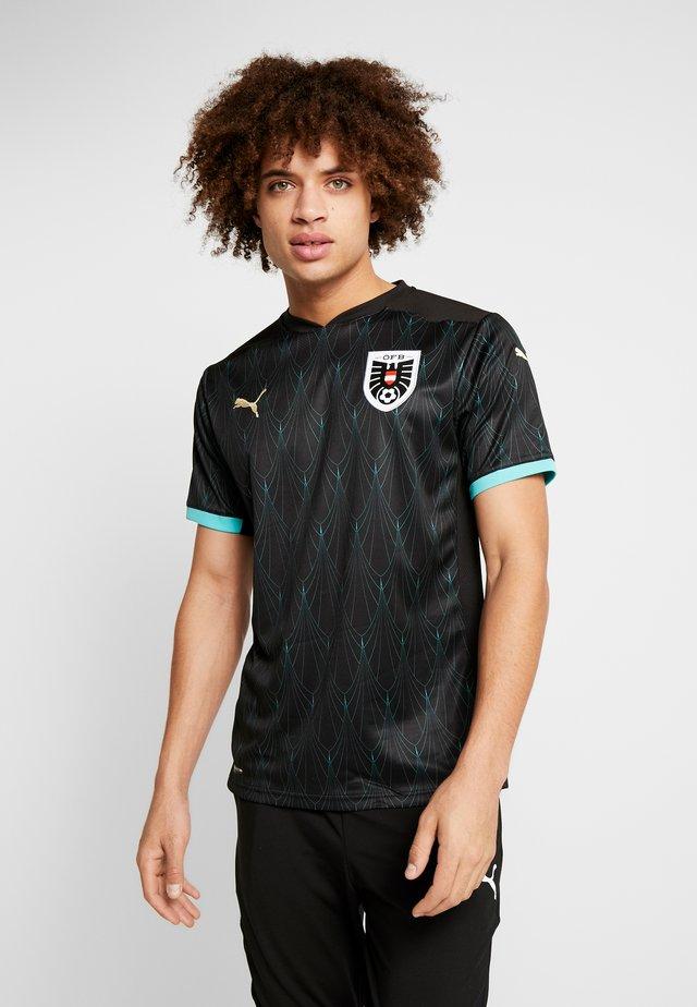 ÖSTERREICH ÖFB AWAY JERSEY - National team wear - black/blue turquoise