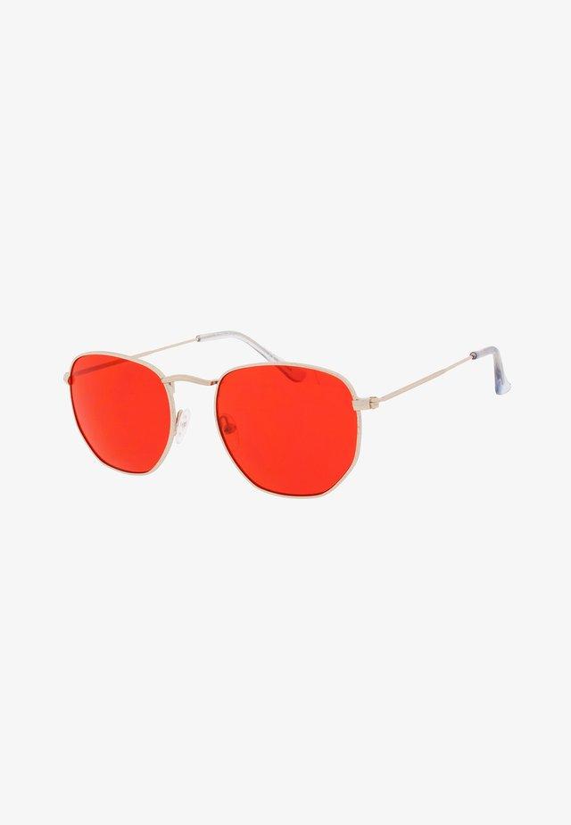 AUGUST - Lunettes de soleil - gold / red lens