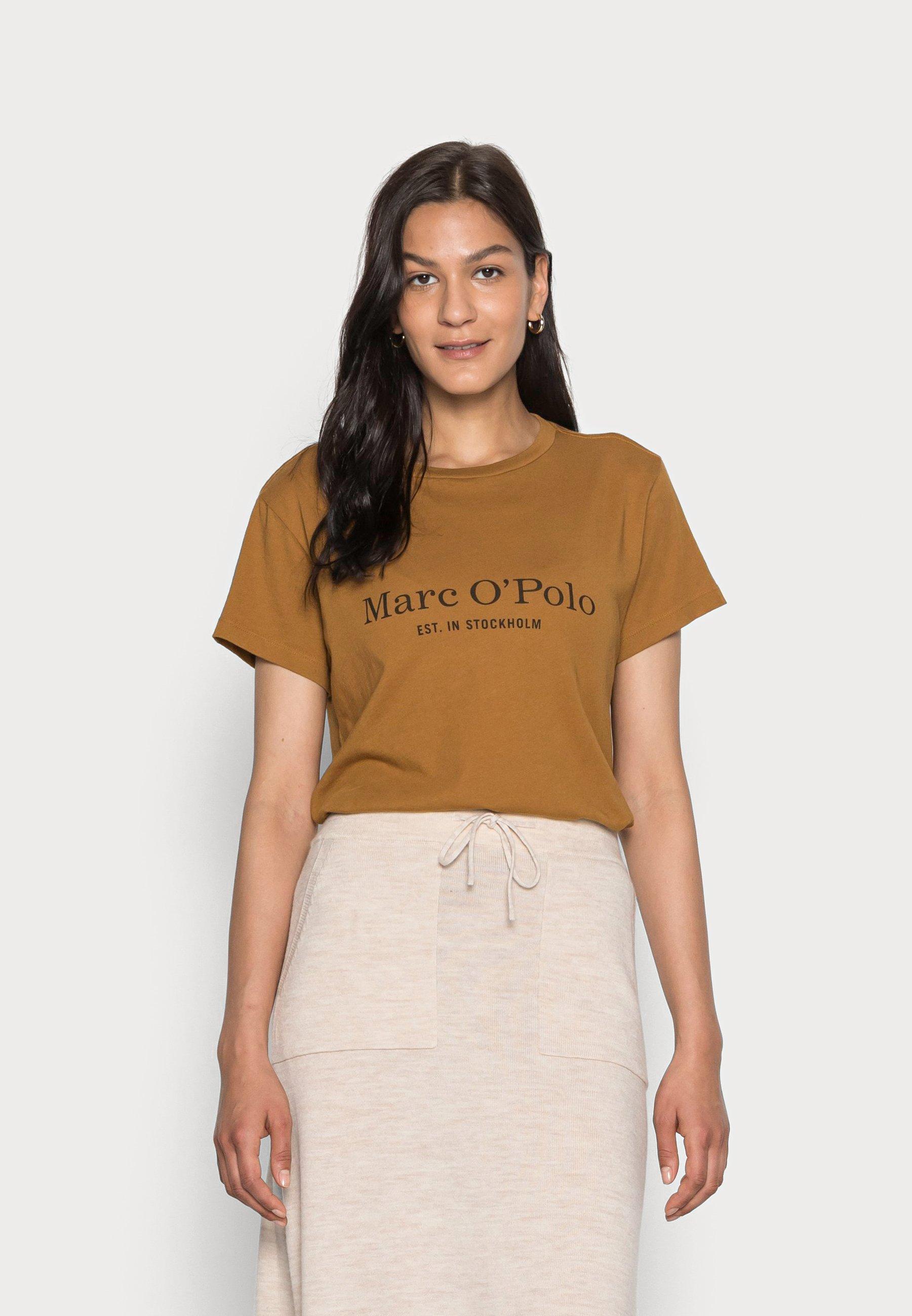 Women SHORT SLEEVE ROUND NECK PLACED - Print T-shirt