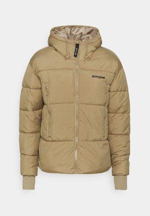SHORT JACKET WITH LONG ZIPPERS - Light jacket - beige