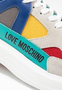 Love Moschino - Matalavartiset tennarit - yellow/grey - 2