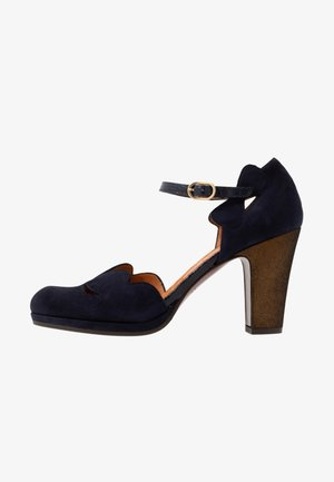 CEMIL - High heels - noce/palais navy/lame bronce