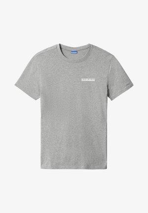 S SURF - Print T-shirt - medium grey melange