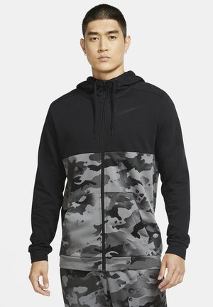 DRY FZ FA - Zip-up hoodie - black/iron grey/grey fog