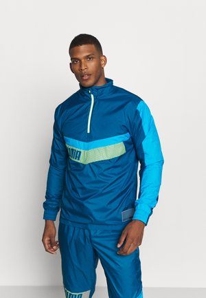 TRAIN ZIP JACKET - Windjack - blue/fizzy yellow