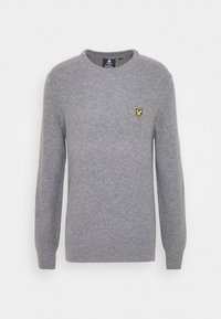 Lyle & Scott - BASKET JUMPER - Stickad tröja - mid grey marl - 0