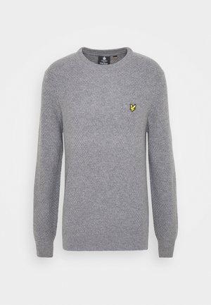 BASKET JUMPER - Stickad tröja - mid grey marl