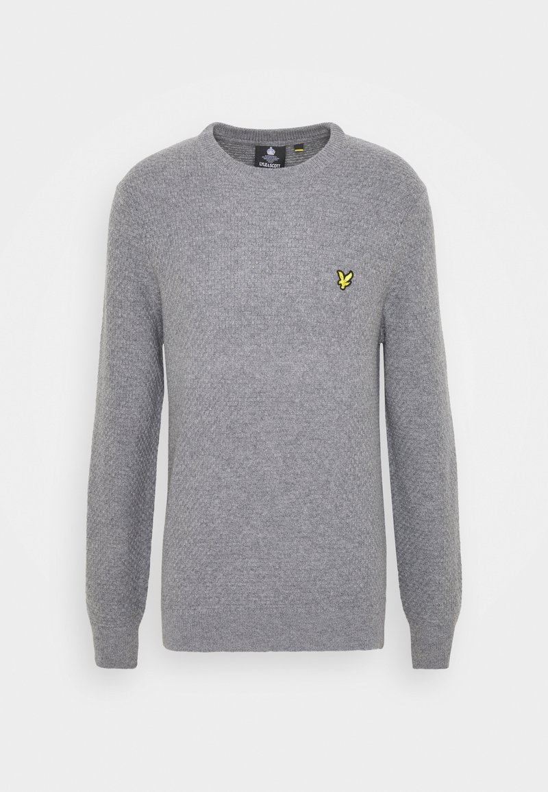 Lyle & Scott - BASKET JUMPER - Stickad tröja - mid grey marl