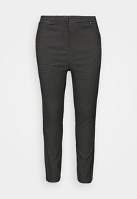 New Look Curves - GRID BENGALINE TROUSER - Kalhoty - black - 0