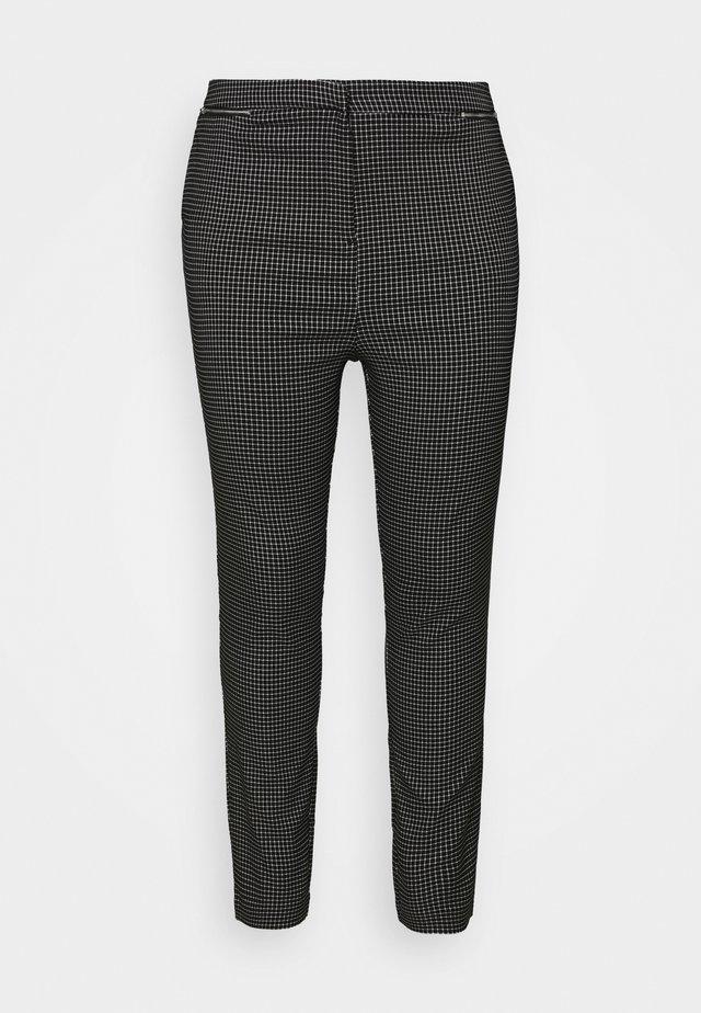 GRID BENGALINE TROUSER - Pantaloni - black