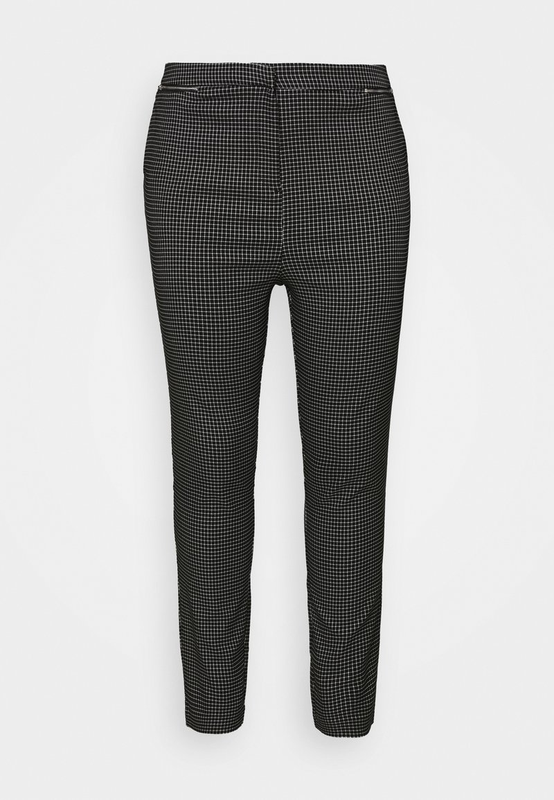 New Look Curves - GRID BENGALINE TROUSER - Kalhoty - black