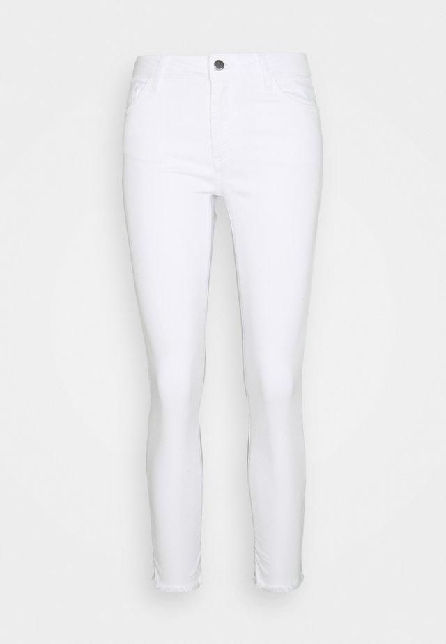 MIDI - Skinny džíny - denim white