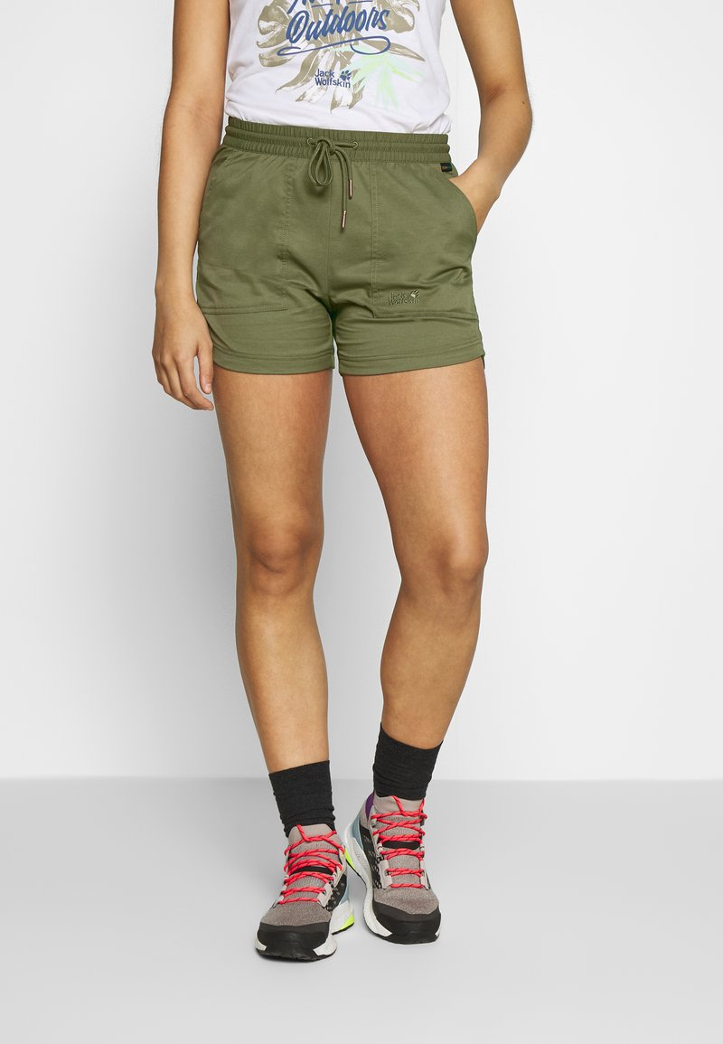 Jack Wolfskin - SENEGAL SHORTS - Sports shorts - delta green