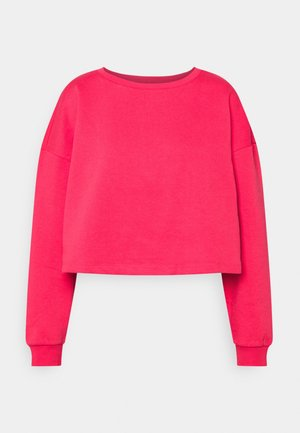 ONYFAVE LIFE O NECK CROPPED - Sweatshirt - rouge red