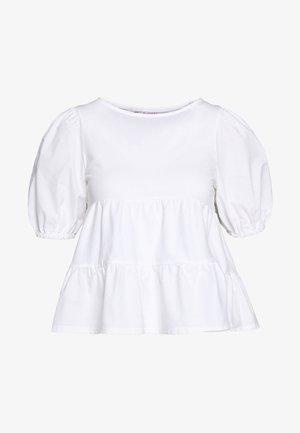 POPLIN TIERRED - Bluser - white