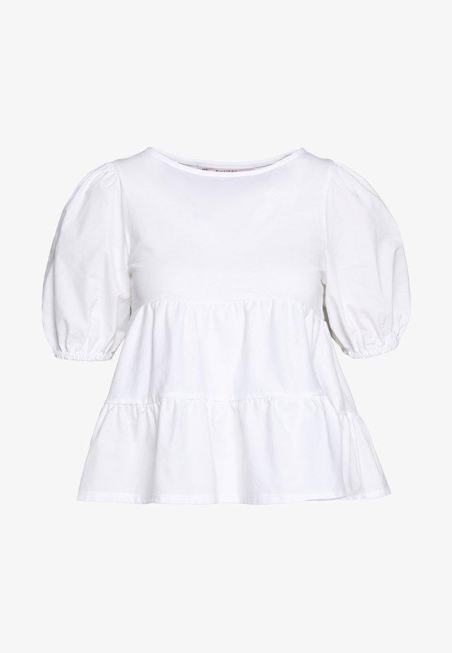 POPLIN TIERRED - Camicetta - white