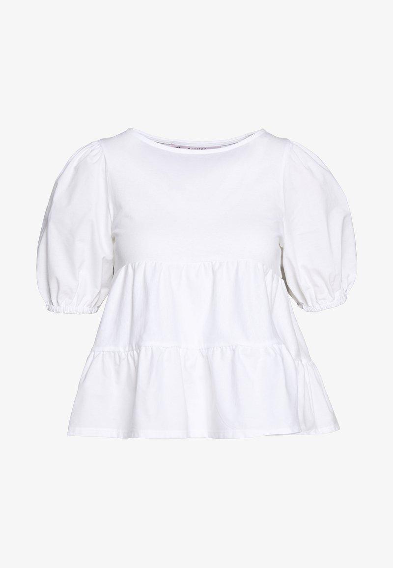 Miss Selfridge Petite - POPLIN TIERRED - Blouse - white