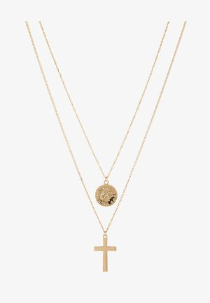 COIN & CROSS MULTI ROW 2 PACK  - Necklace - gold-coloured