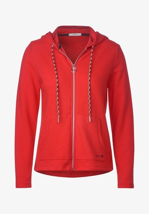 MIT STRUKTUR - Zip-up hoodie - orange