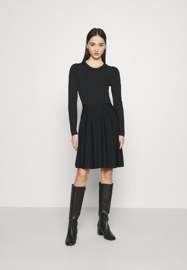 YASBECCO PUFF SLEEVE DRESS - Day dress - black