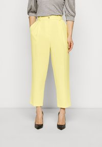 Topshop Petite - CLEAN STRAIGHT TROUSERS - Trousers - yellow - 0