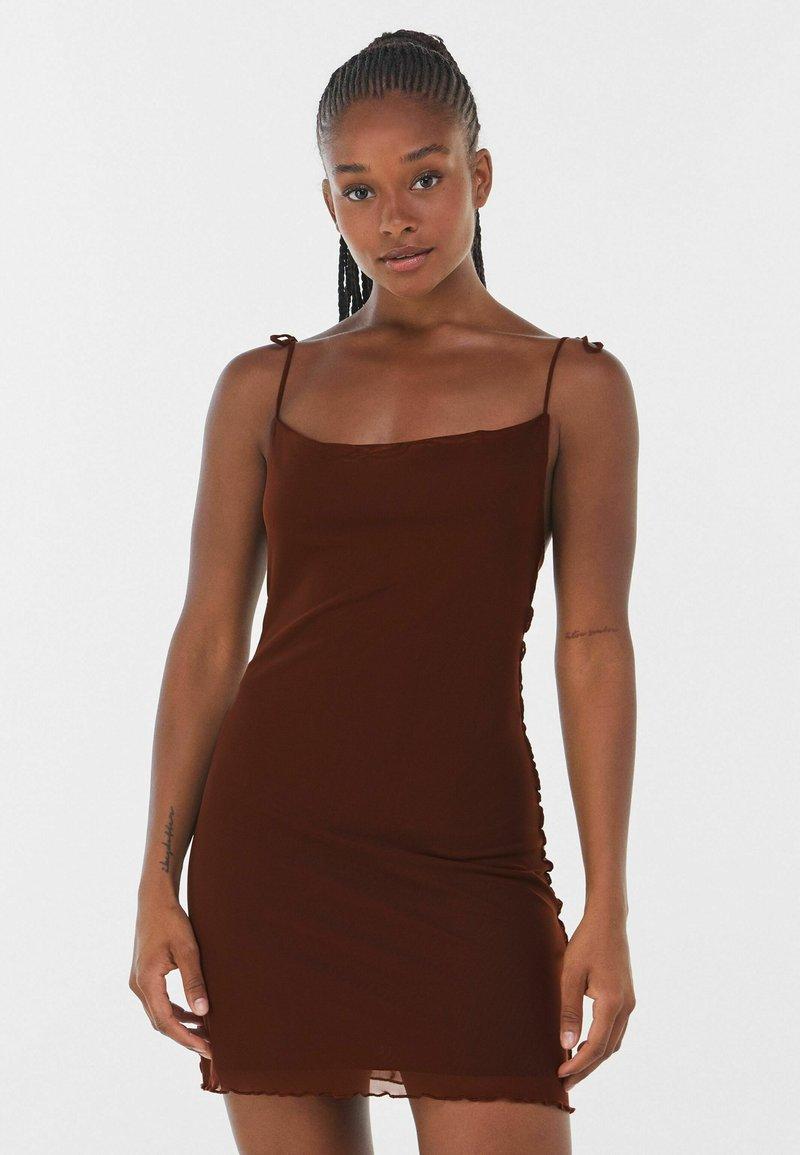 Bershka - Denní šaty - brown
